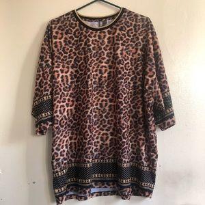 ASOS oversized leopard print t-shirt